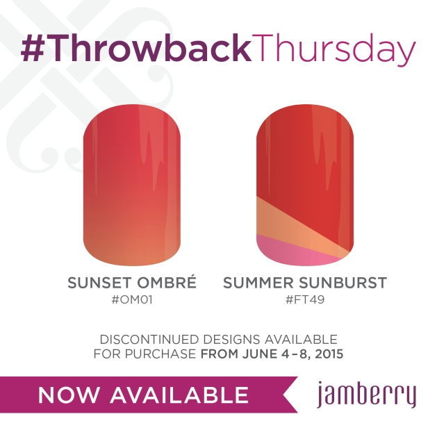 Jamberry Nails Sunset Ombre and Summer Sunburst