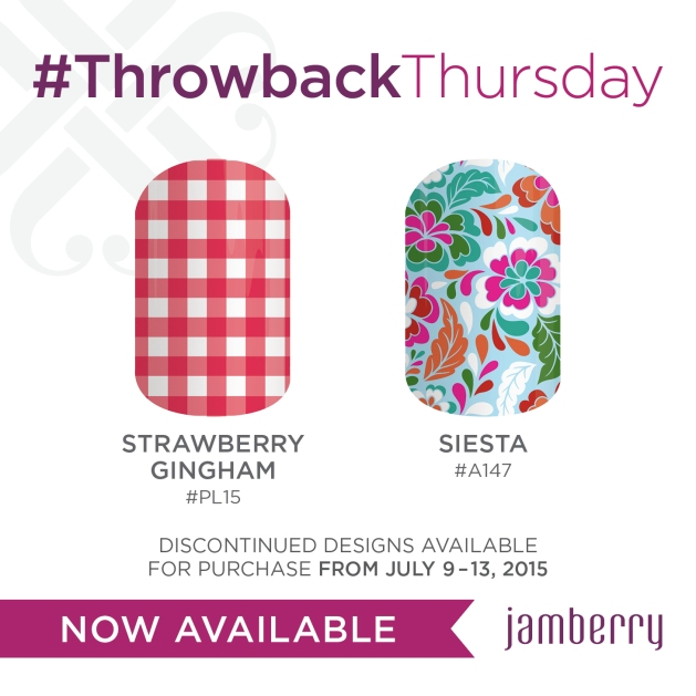 Jamberry Nails Strawberry Gingham & Siesta