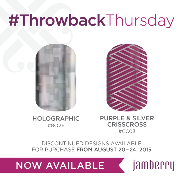 Jamberry Holographic and Purple & Silver Crisscross